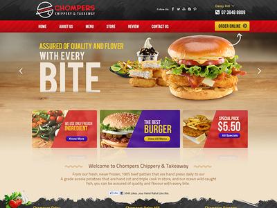 Australian Base Restaurant Website Design