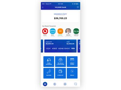 Banking App Dashboard