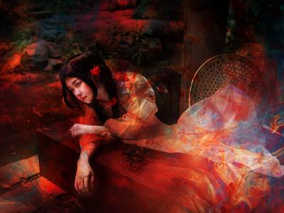 """""""阎魔爱"""" for my best friend colors color portraiture art design"""