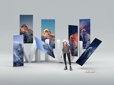 20201112 MIUI12.5 Stock Wallpaper- Four Girls Mountain xiaomi design art