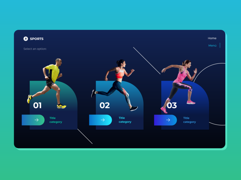 Menu - Sports fitness colorful menu design layout web design ux design ui design sports