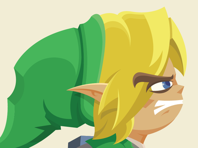 Angry Toon Link