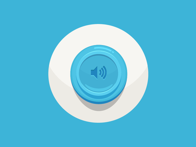 """Say it"" button say viget sayviget viget button audio blue simple vector shading shadow highlights ball round joseph le"