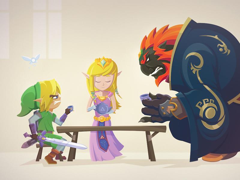 Legend Of Zelda Tea Party By Joseph Le On Dribbble
