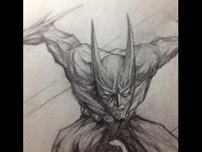 Batman Beyond 1 batman beyond sketch drawing detail graphite