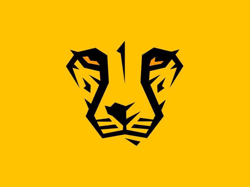 Cheetah logo cheetah logo vector animal wild yellow orange black lines zoo