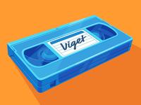 Blue VHS Tape