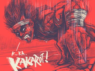 Vegeta Gravity Chamber anime fanart black shadow shading photoshop drawing art red character illustration dragonballz dragonball dbz