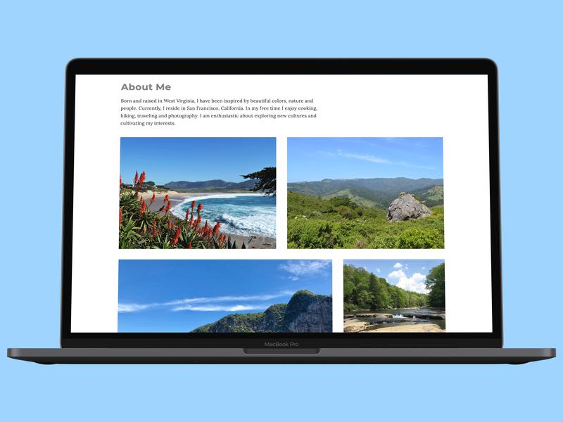 About me section desktop ux design web grid ui responsive userexperiencedesign