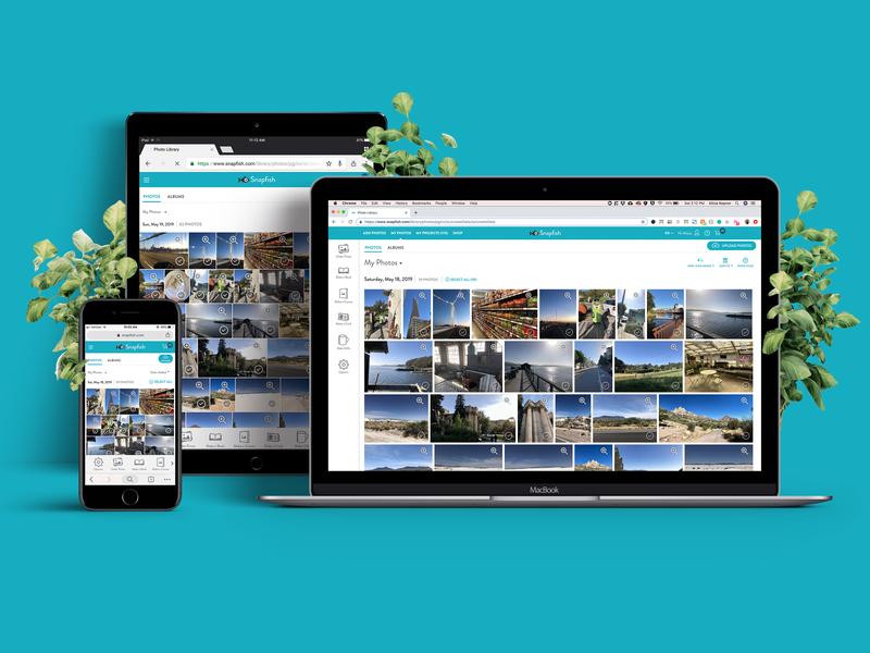 Snapfish Photo Library responsive web ux userexperiencedesign ui design