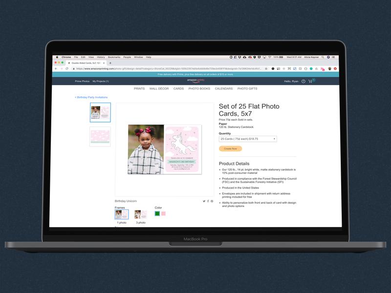 Amazon Cards Part 3: Product Details Page productdesign ux flow desktop web design responsive userexperiencedesign