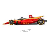 Open wheel racer concept
