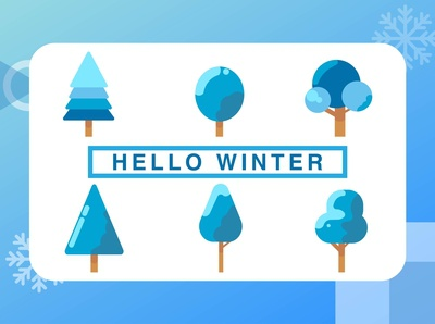 Winter trees symbols