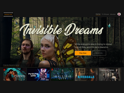 Concept Streaming Service photoshop