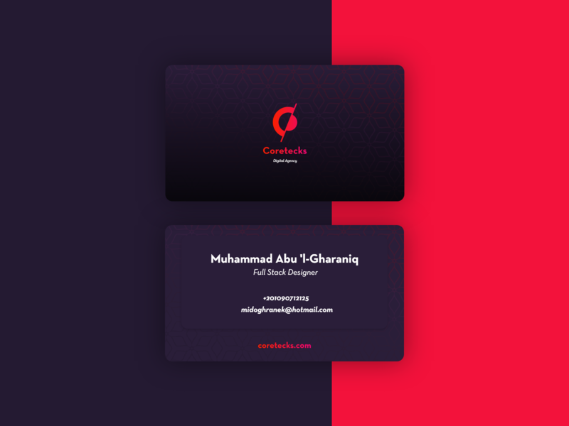 Coretecks Business Card illustrator adobe xd icon illustration logo branding design