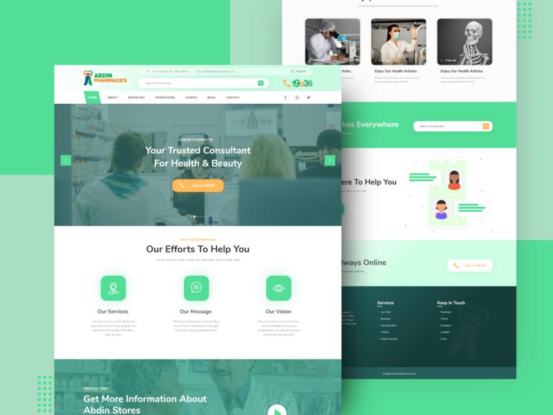 Abdin Pharmacies Web Design website web design ui ux adobe xd
