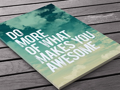 Do More typography awesome