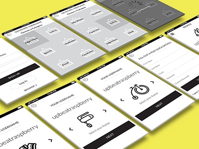 Wireframes wireframes ui ux interface design