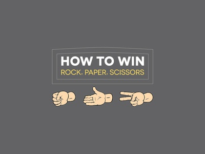choose your weapons wisely rps infographic rock paper scissors