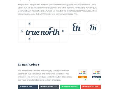 True North logo identity true north