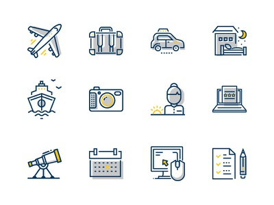 Expedia PartnerCentral icons email swag partners travel expedia product marketing iconography icon