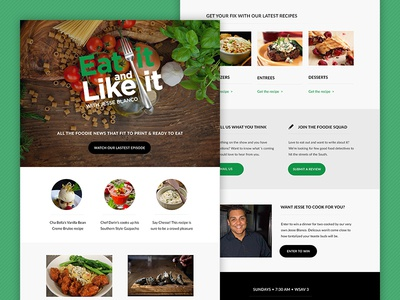 Eat it and like it Newsletter food email design responsive mailchimp newsletter email