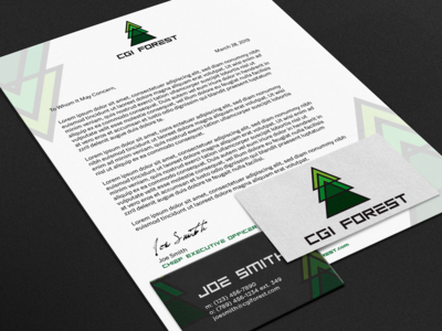 Branding Package for CGI Forest
