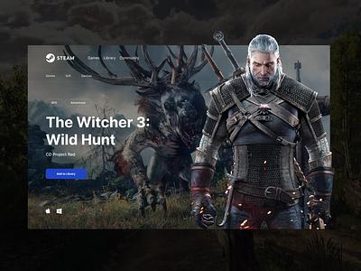 Steam redesign concept ux design web ui webdesign uidesign ui  ux