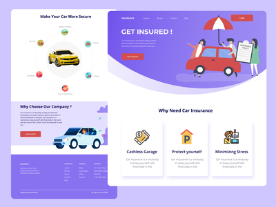 Car Insurance Landing Page ui agency agency website product design insurance pensions home page website redesign website design landing page design bike insurance family portrait family insurance insurance insurance app car insurance insurance logo