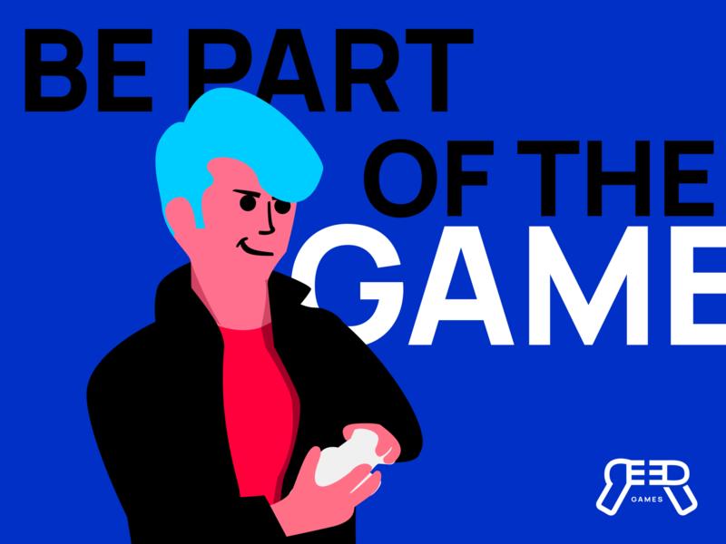 Be Part Of The Game brand game design game video game website branding characterdesign character icon illustration art design vectors blue vectorart vector illustration inkscape vector art vector illustration