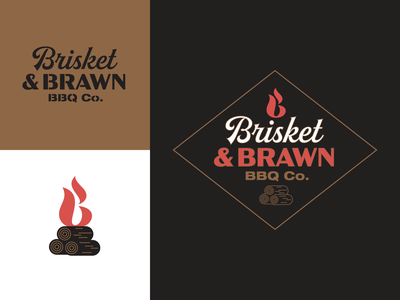 Barbeque identity beef pork meat cooking american grill barbeque vintage logo branding