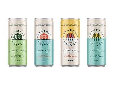 ND Cans beverage drink organic natural energy tea team packaging typography logo branding