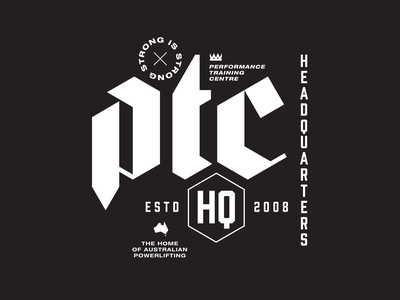 PTC Hoodie strong powerlifting weightlifting gym sweatshirt hoodie apparel typography type design lettering