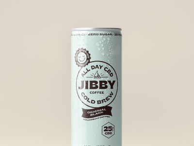 Jibby CBD Cold Brew beverage drink packaging can cbd cold brew coffee typography logo branding