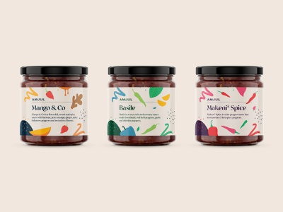 Spice label concepts taste flavour packaging cooking food spices marinade sauce flat logo vector branding illustration