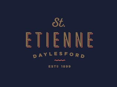St Etienne vintage bed and breakfast branding logo