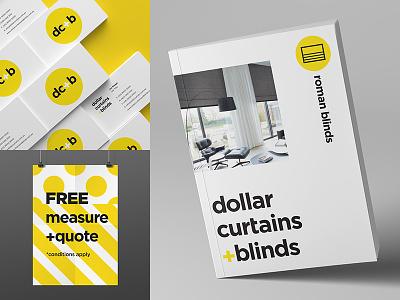 DC+B Print brochure print blinds curtains icons retail identity branding