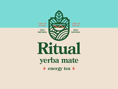 Energy Tea concept healthy natural energy drink beverage packaging logo brand tea drink beverage