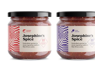 Hot sauces fish shrimp gourmet african jar cuisine hot sauce food packaging branding