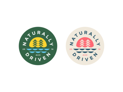 All natural beverage company motivated driven badge sunrise sun nature organic beverage natural flat logo branding vector