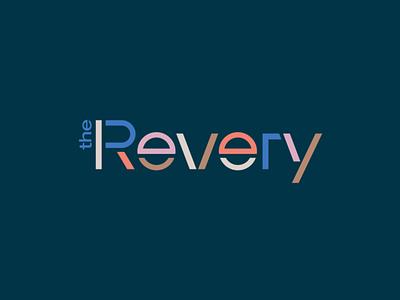 The Revery custom wordmark logotype branding and identity branding mid-century custom wordmark lettering typography logo