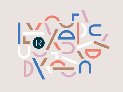 The Revery pattern lettering pattern visual identity mid century vintage typography vector branding illustration