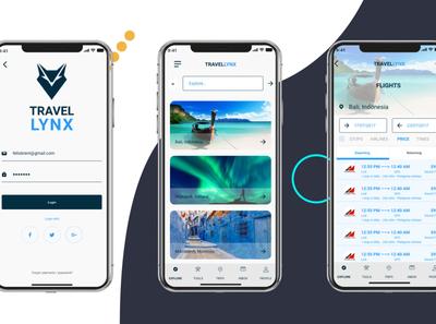 Travellynx - Travel Planning application design concept adobexd illustration ux designer ui designs logodesign design app ux design ui design