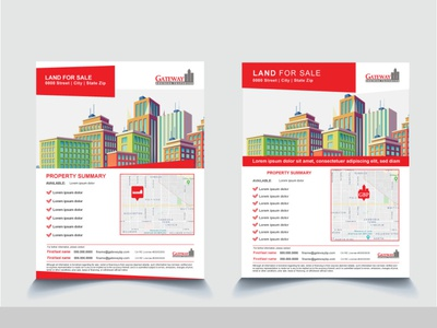 gateway project realestate brochure design adobe illustrator