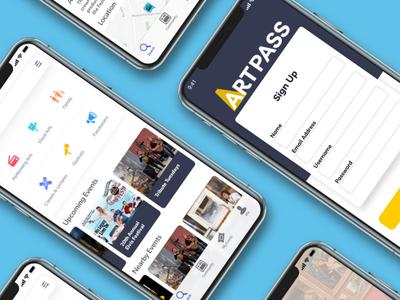 Artpass design art adobexd ux designer ui designs logodesign design app adobe illustrator ux design ui design