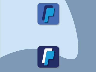 PayPal App Icon Logo Re-Design branding landing page adobexd ux designer ui designs logodesign design app adobe illustrator ux design ui design