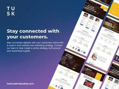 Stay connected with your customers branding ux designer logodesign landing page design app adobexd ui designs adobe illustrator ux design ui design