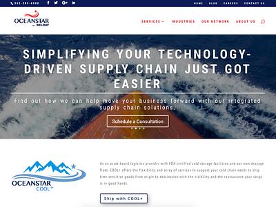 Freight Forwarder Website Design logodesign ux design ui design landing page