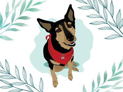 Denzel dog illustration dog wacom intuos design illustration