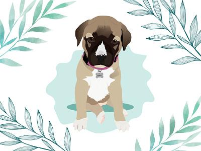 NALA puppy dog illustration dog wacom intuos design illustration
